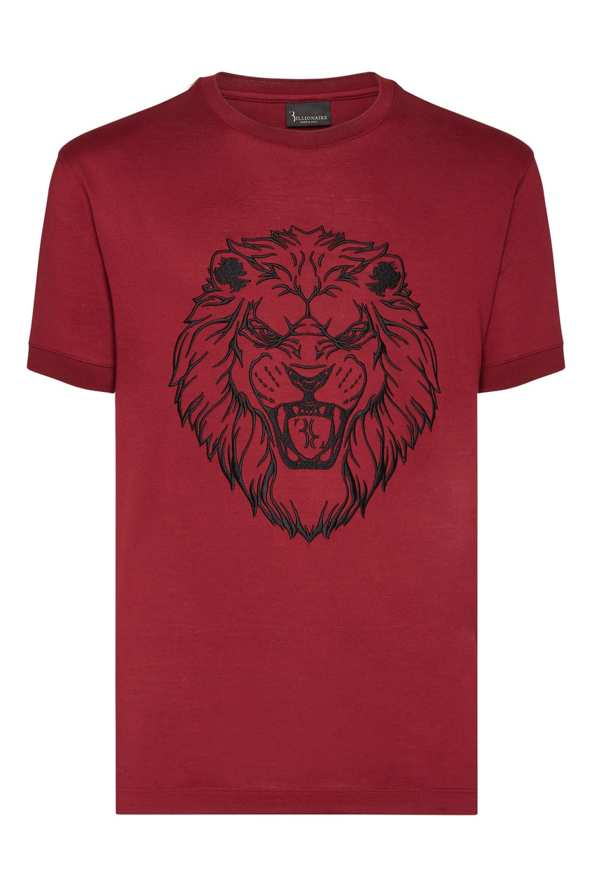 мужская футболка billionaire, бордовая