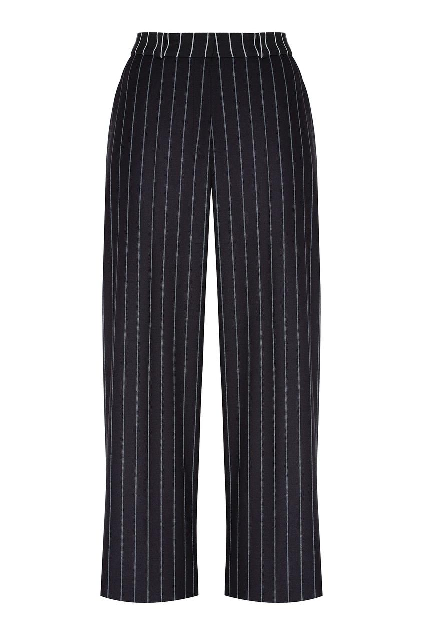 женские прямые брюки hugo boss, черные