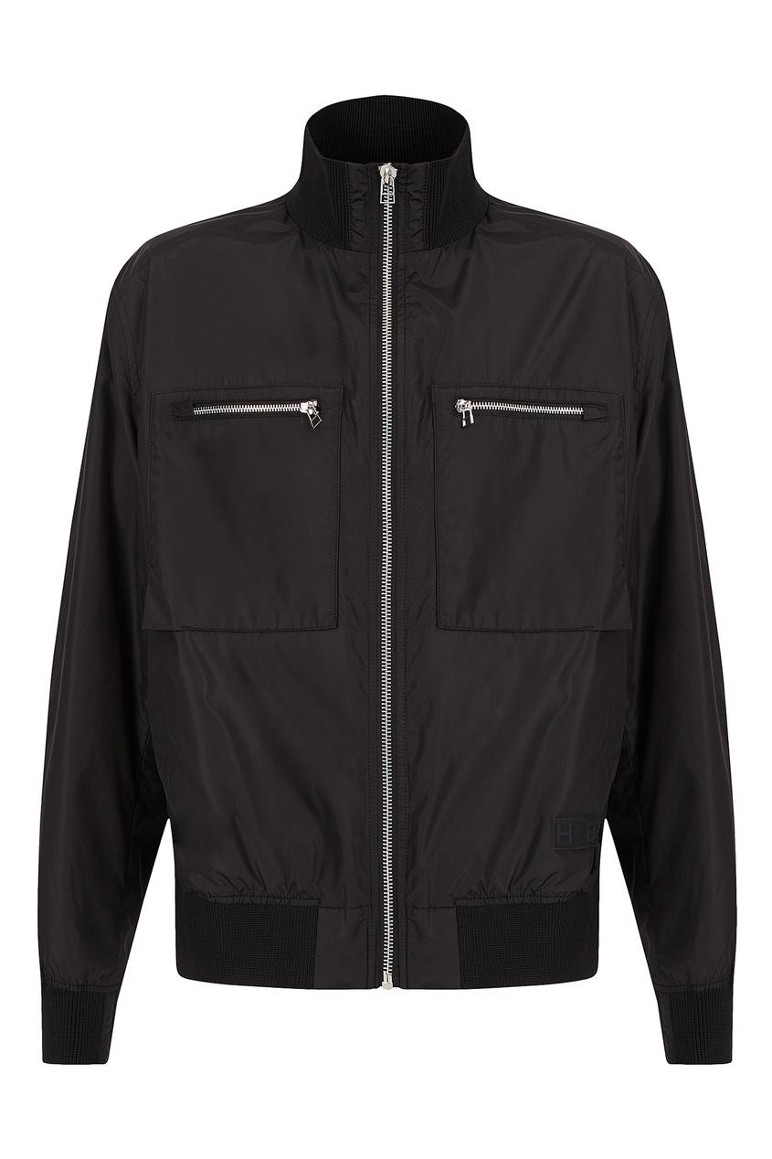 мужская куртка boss, черная