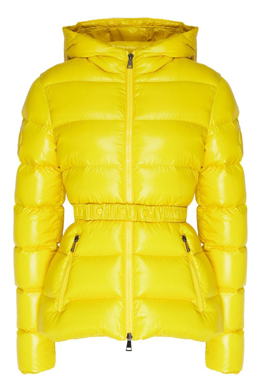 Желтая куртка-пуховик Rhin от Moncler