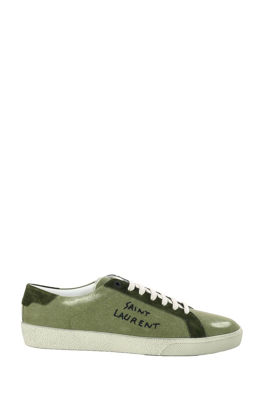мужские кеды saint laurent, зеленые