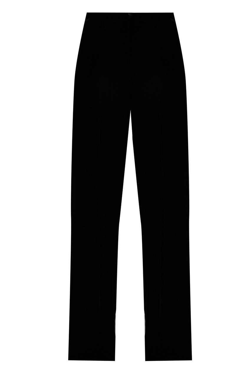 Бархатные брюки с манжетами от Emporio Armani