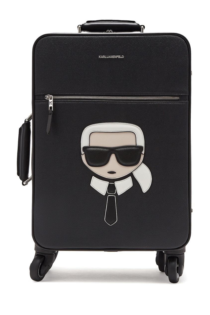 женский чемодан karl lagerfeld, черный