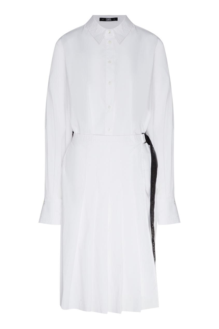 женское платье-рубашки karl lagerfeld, белое