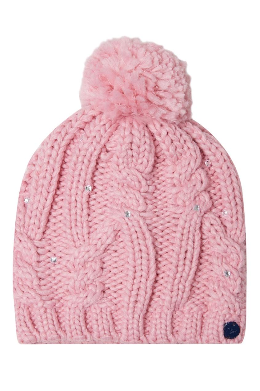 Розовая шапка с помпоном Shooting Star