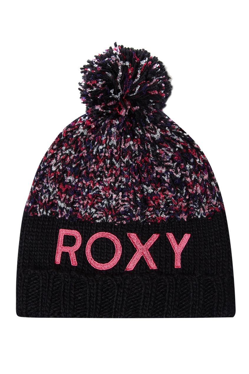 Разноцветная шапка с помпоном Alyeska