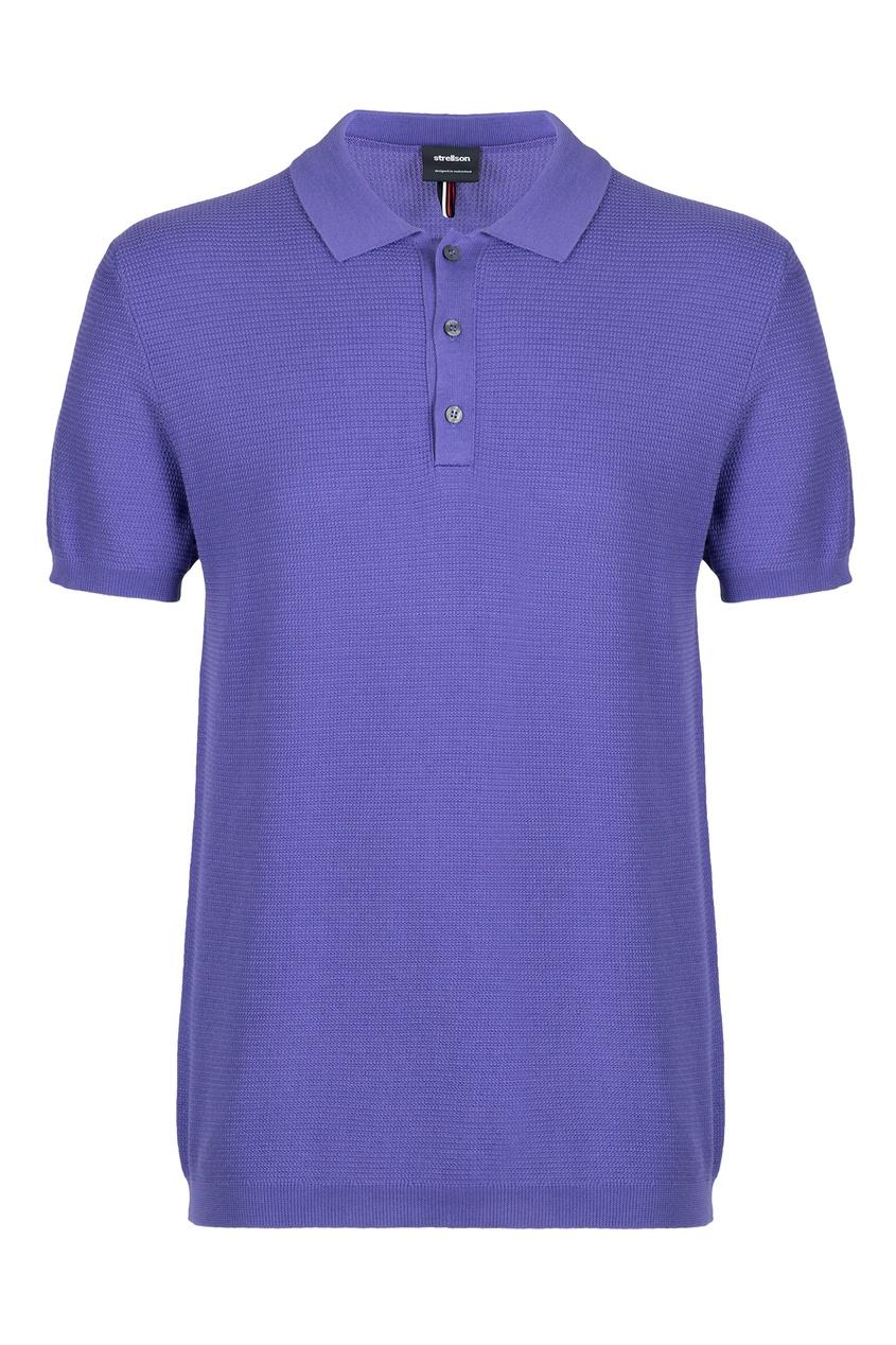 мужское поло strellson, фиолетовое
