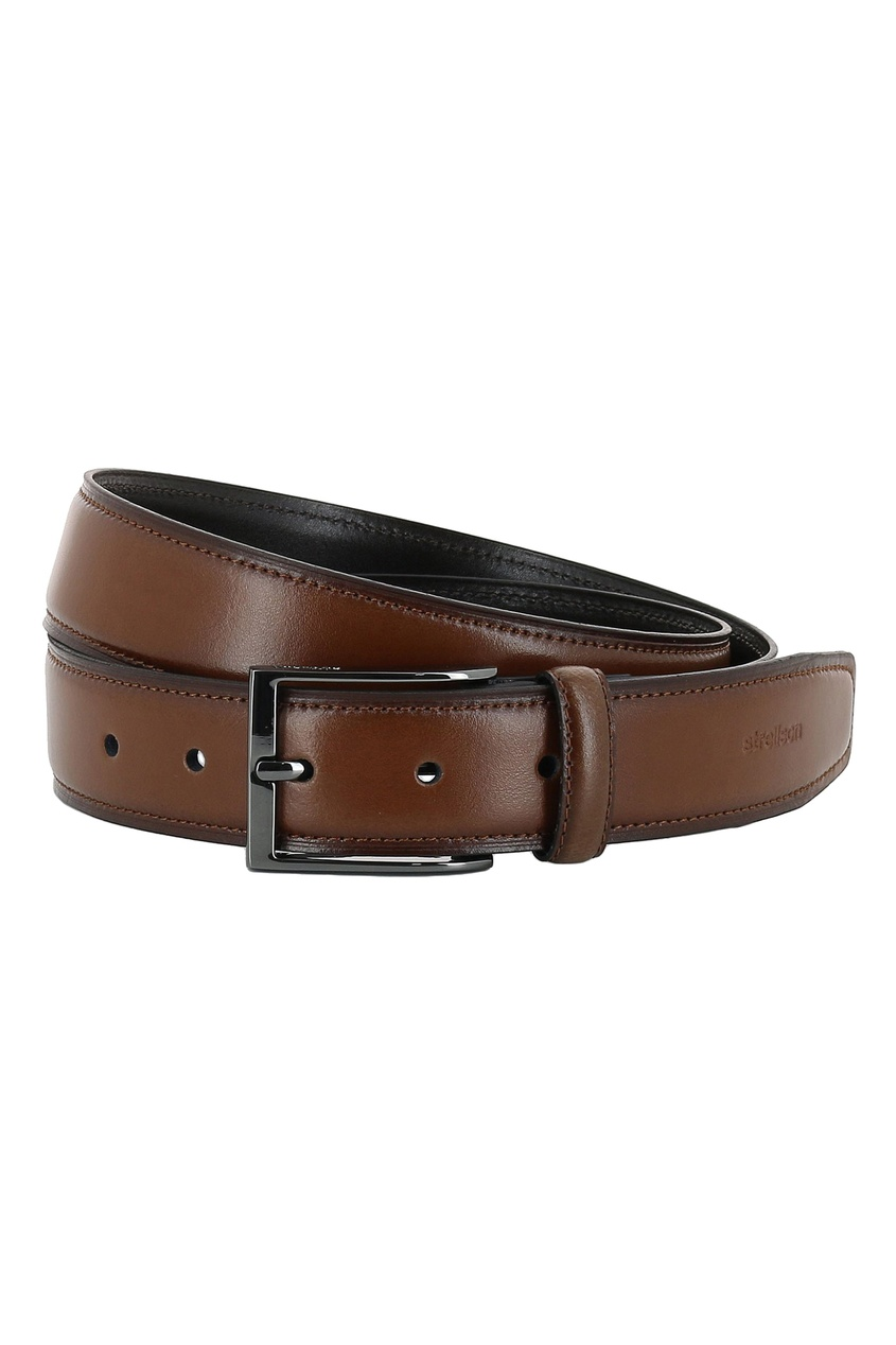 мужской кожаные ремень strellson, коричневый
