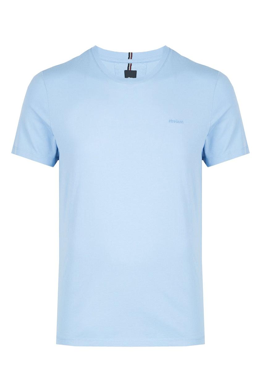 мужская футболка strellson, голубая