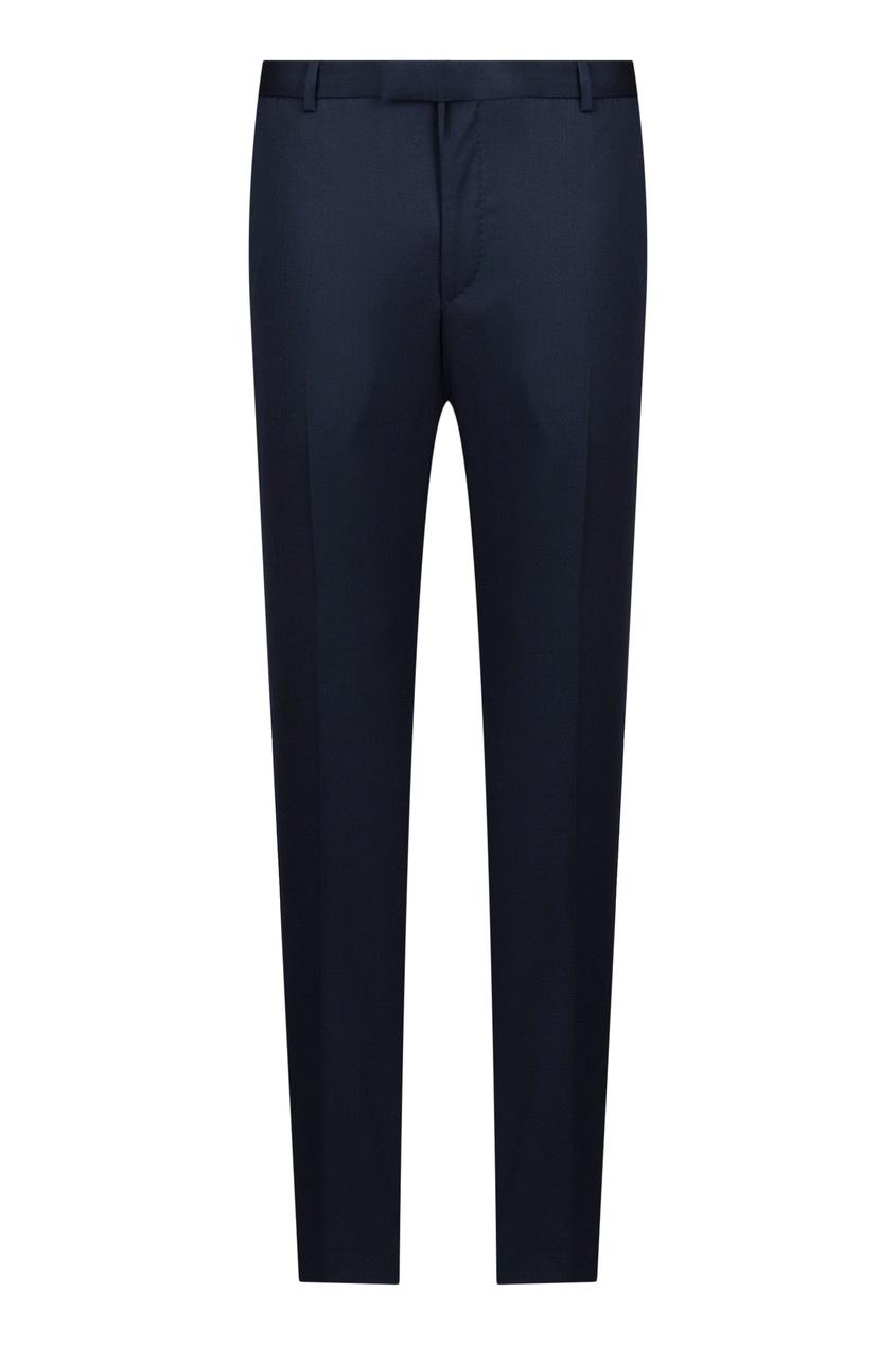 мужские шерстяные брюки strellson, синие