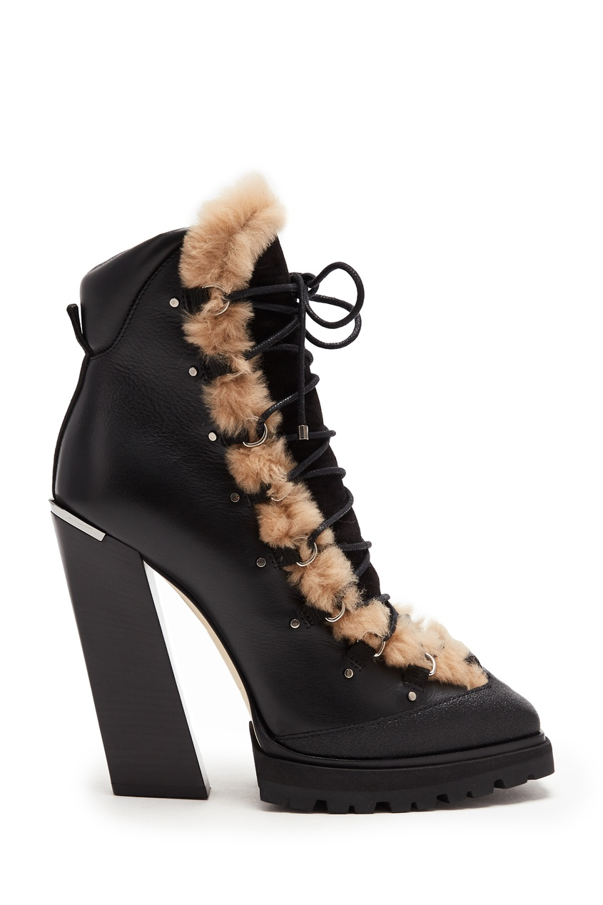 женские ботильоны на каблуке jimmy choo, черные