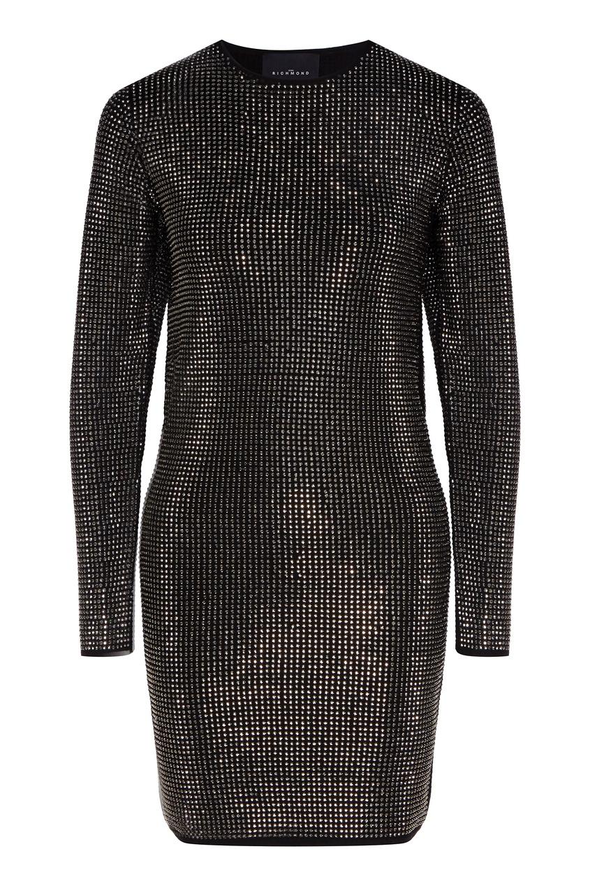 женское платье мини john richmond, серебряное