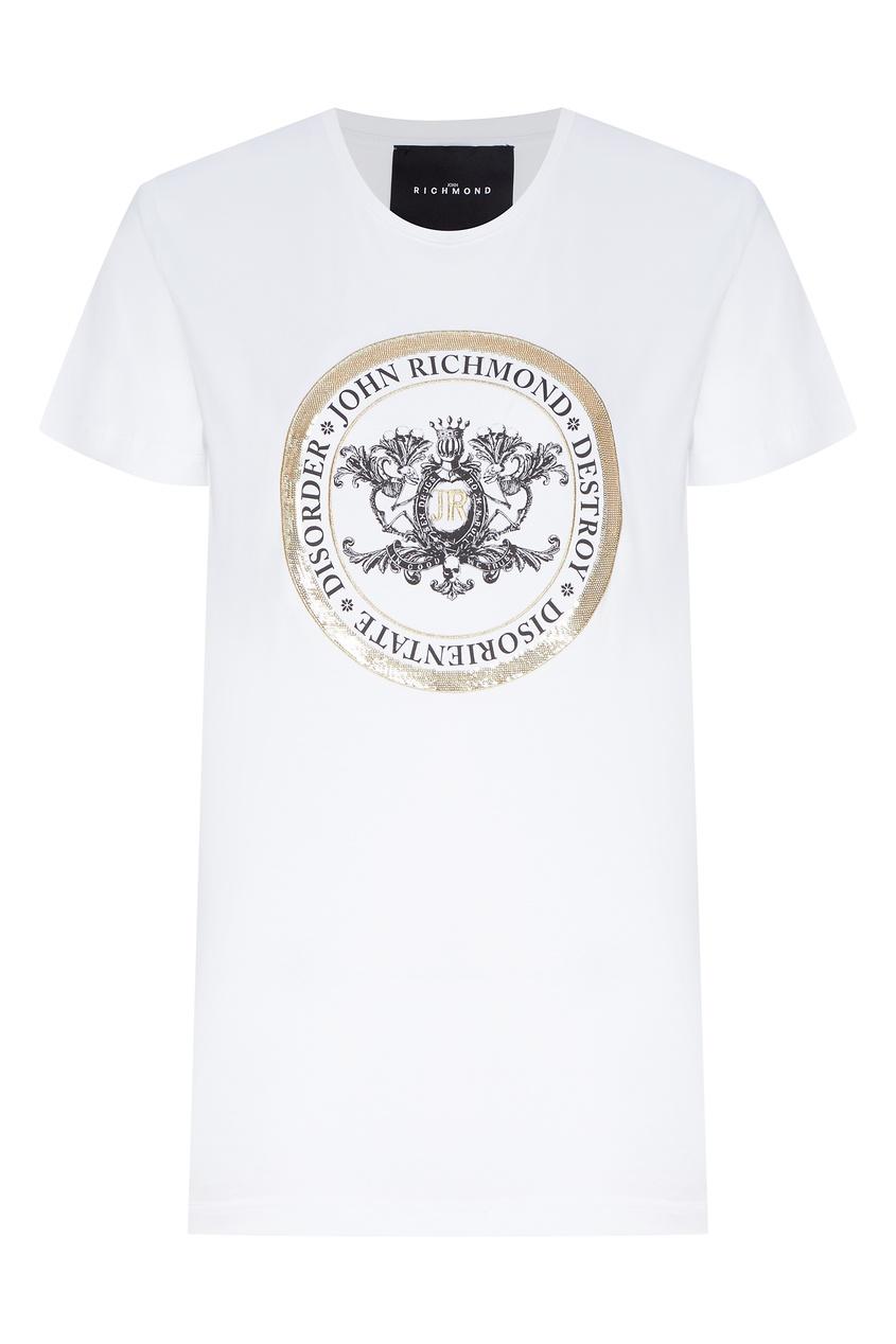 женская футболка с коротким рукавом john richmond, белая