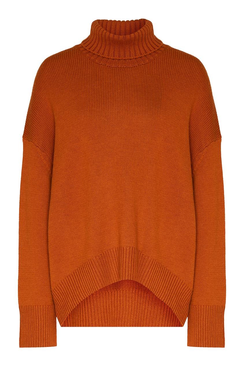 женский свитер addicted, оранжевый