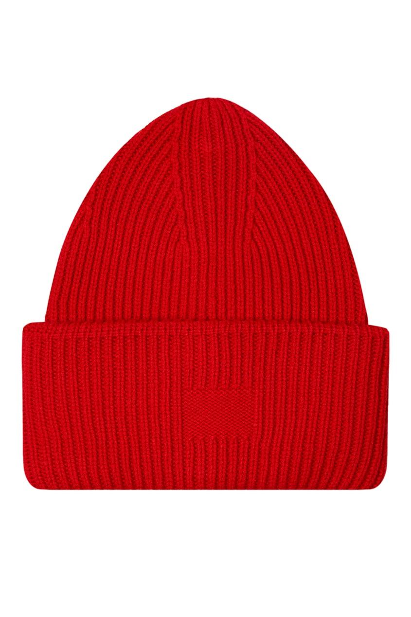 Шерстяная шапка алого цвета Addicted 1733157453 красный фото