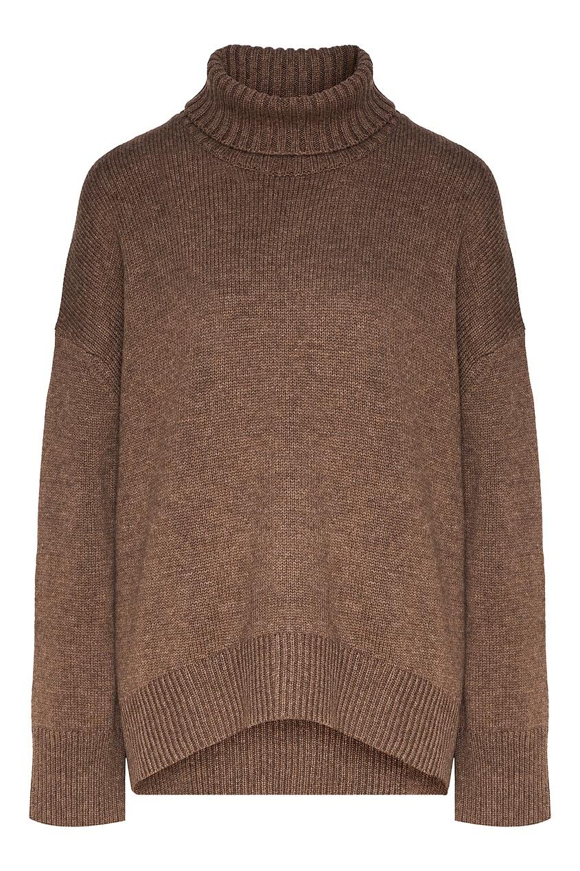 Серо-бежевый свитер оверсайз Addicted 1733157644 коричневый фото