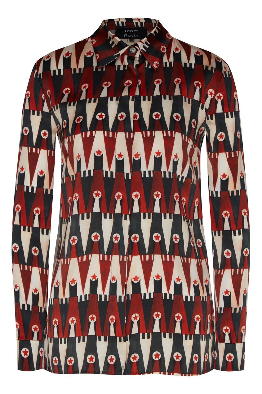 женская шелковые блузка team putin