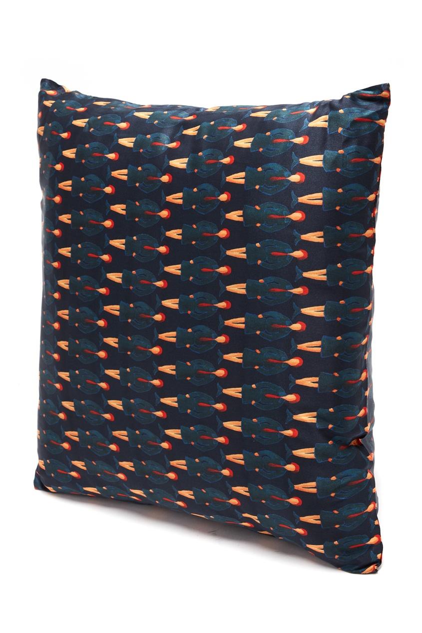 Шелковая подушка с архивным принтом от TEAM PUTIN