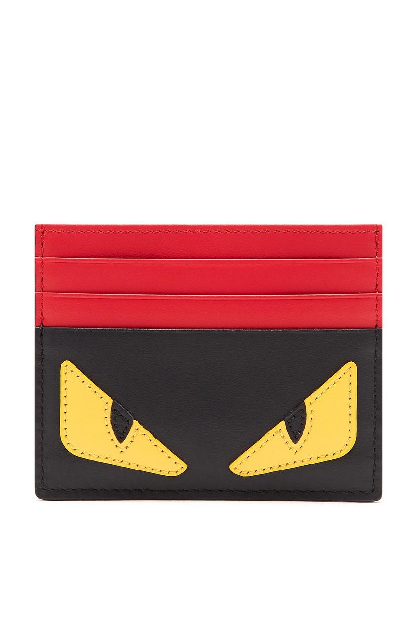 Красно-черный картхолдер Bag Bugs от Fendi