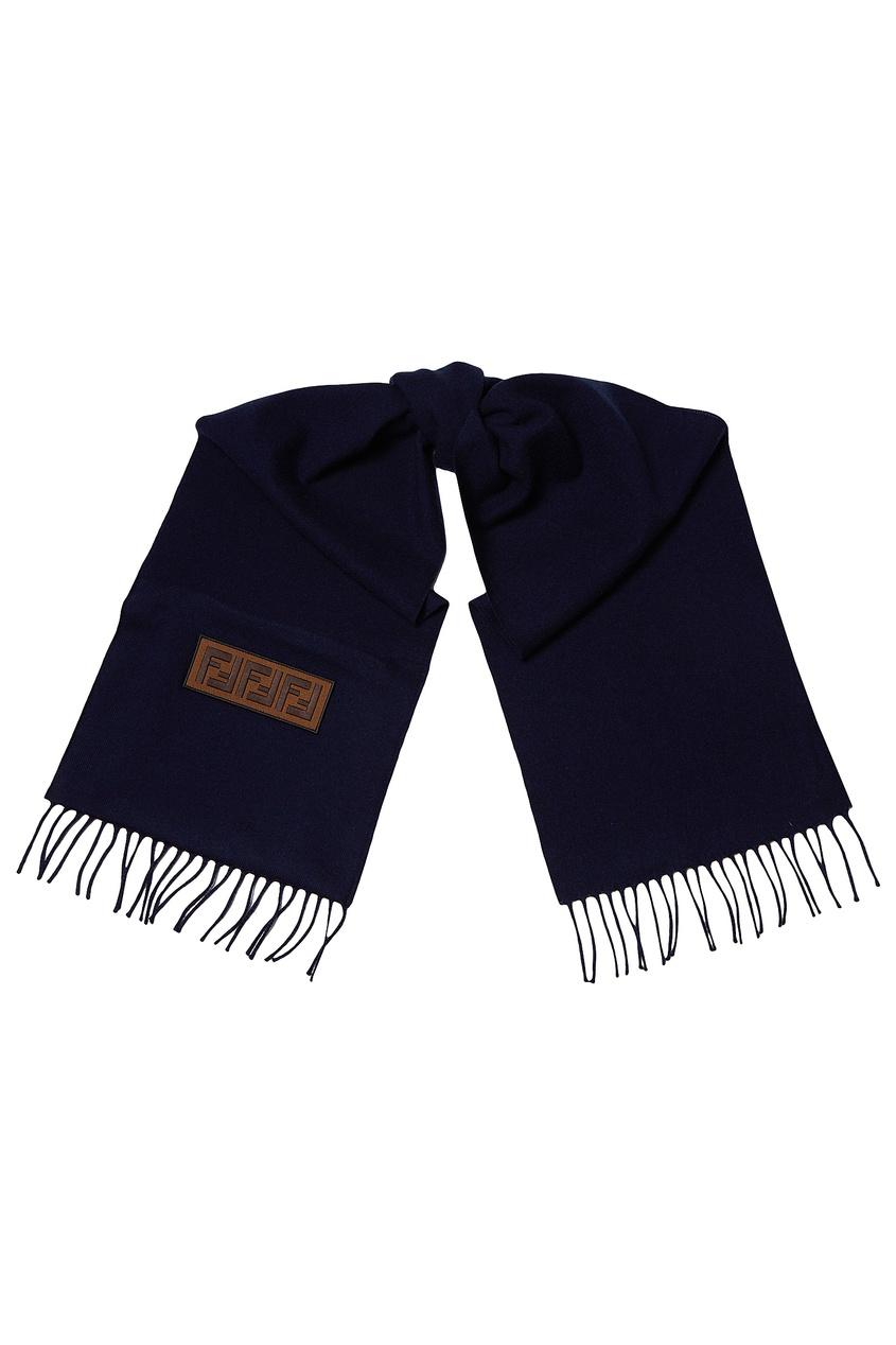мужской шарф fendi, синий