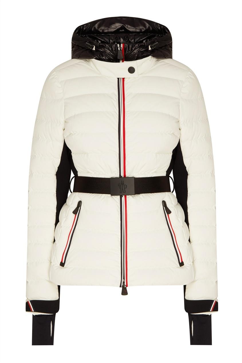 Черно-белая куртка с капюшоном от Moncler