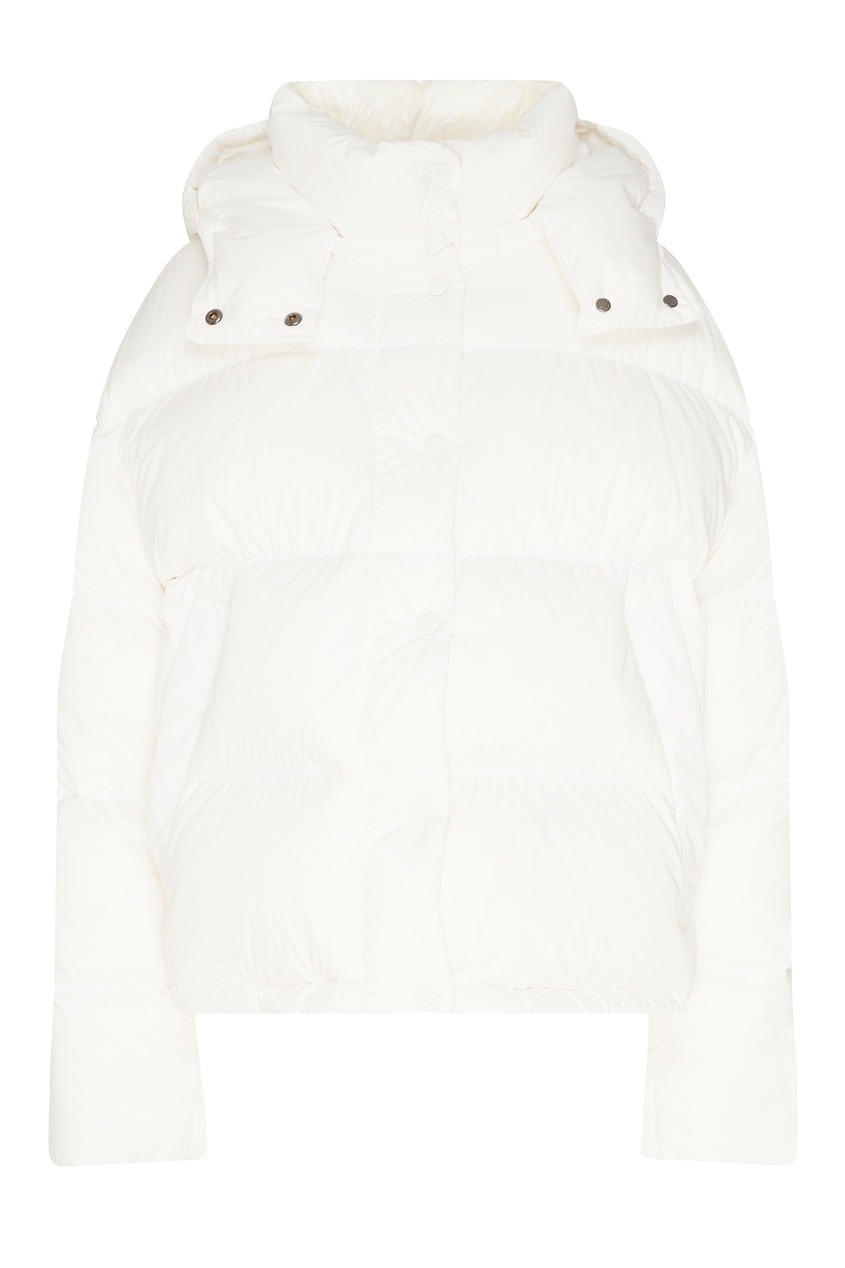 Белая куртка с капюшоном от Moncler