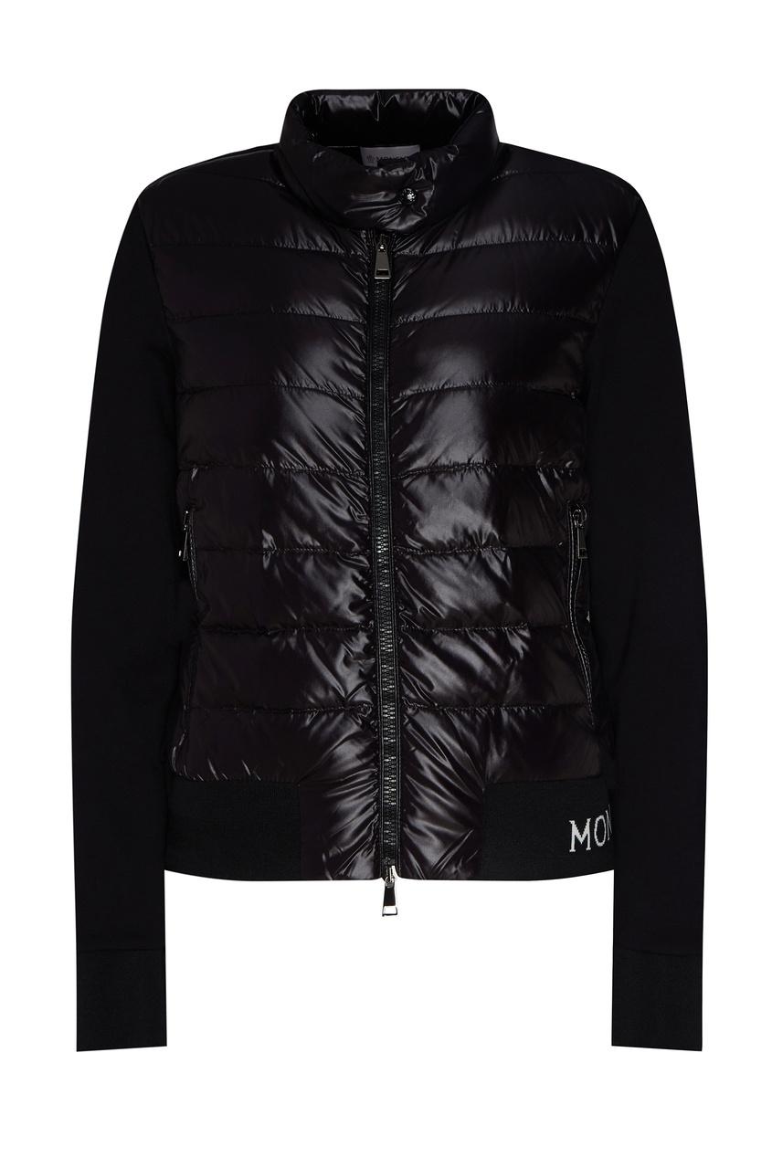 Короткая куртка черного цвета от Moncler