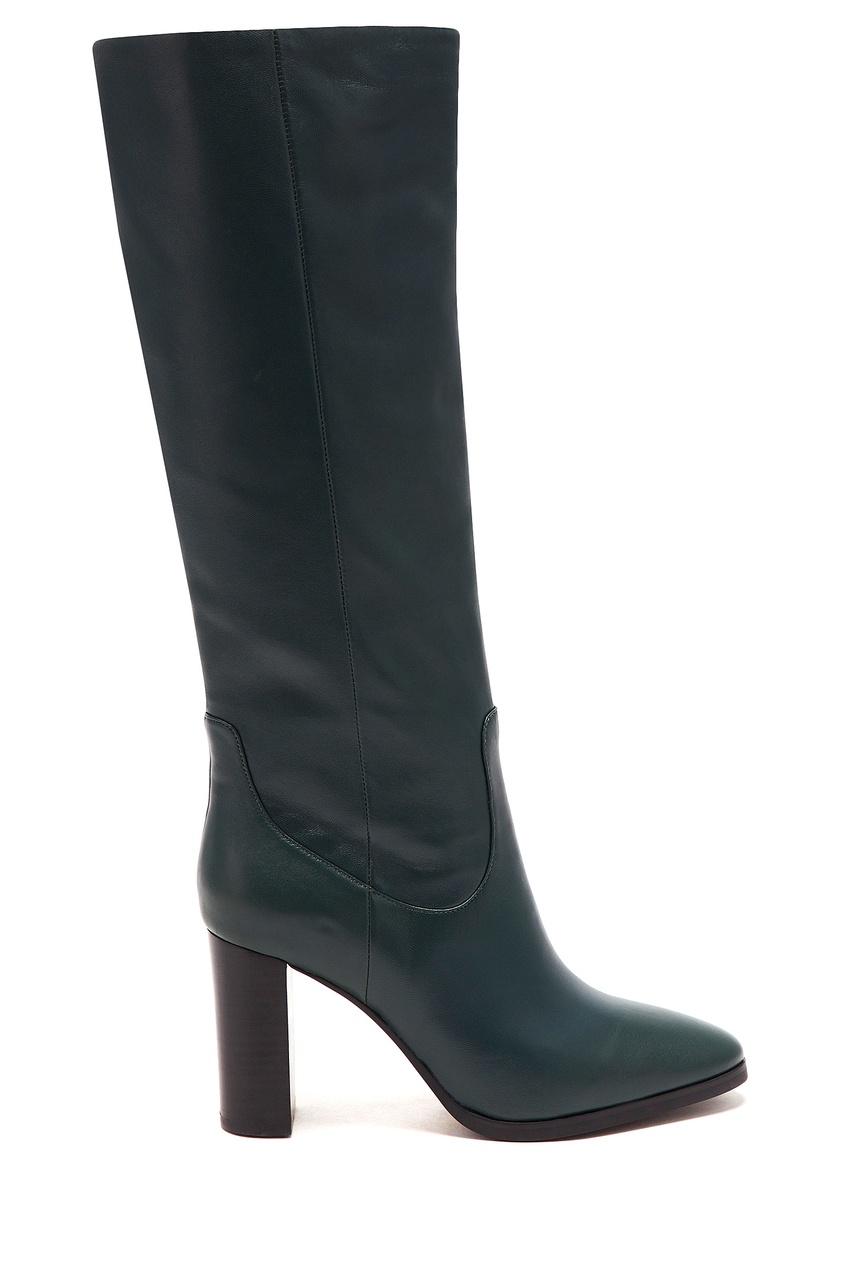 женские сапоги на каблуке lola cruz, зеленые