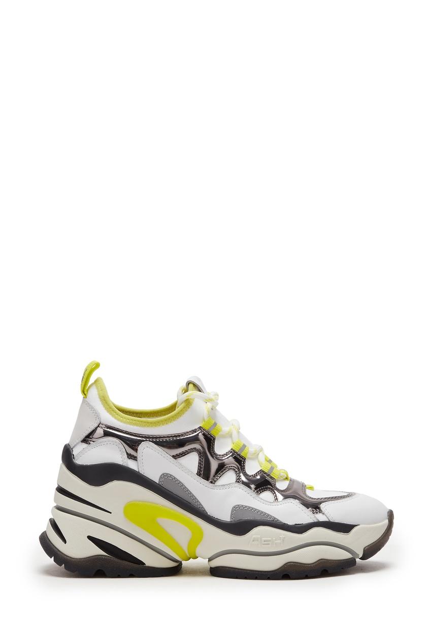 Демисезонные кроссовки-хайтопы на платформе