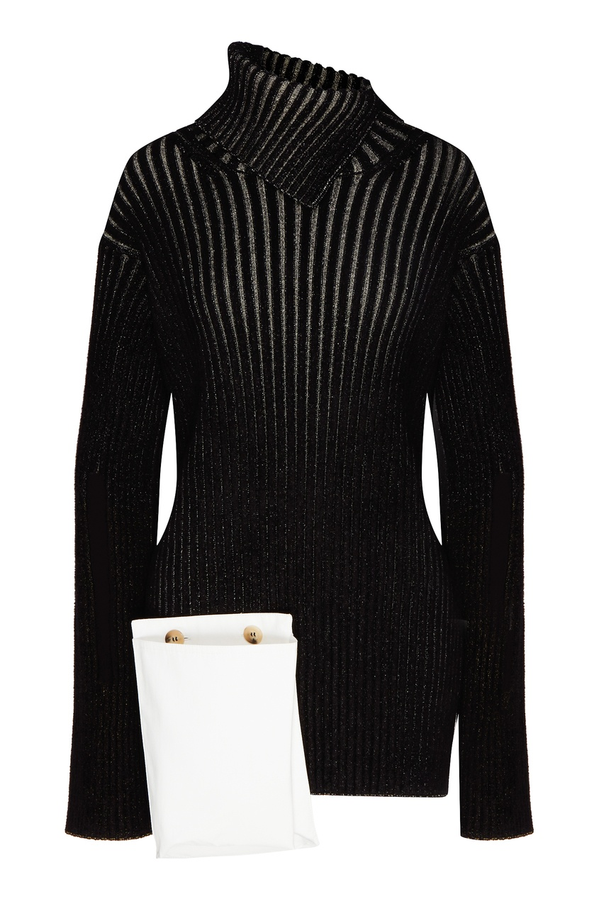 женский свитер moncler, черный