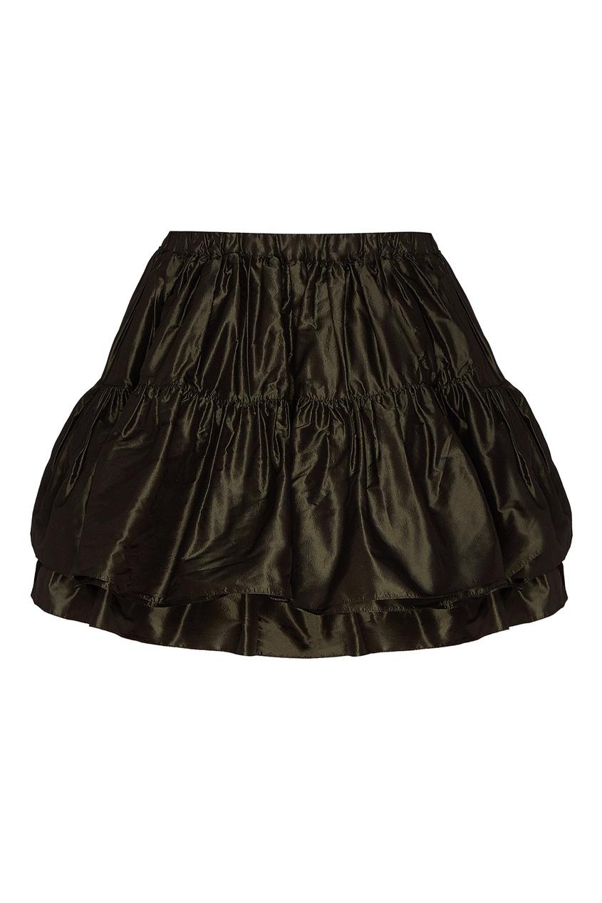 женская юбка мини miu miu, серая