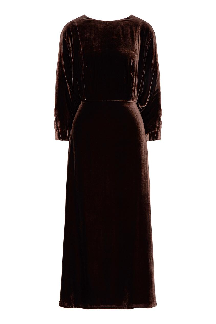 женское платье миди alena akhmadullina, коричневое