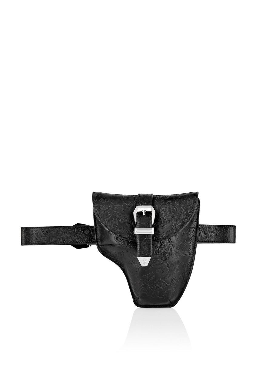 мужская поясные сумка philipp plein, черная