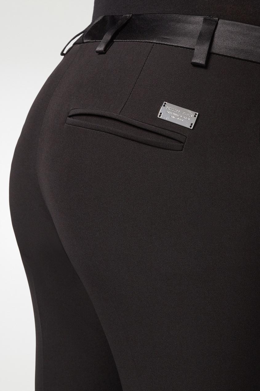 Фото 3 - Черные укороченные брюки от Philipp Plein черного цвета