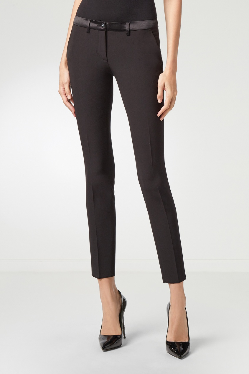 Фото 5 - Черные укороченные брюки от Philipp Plein черного цвета