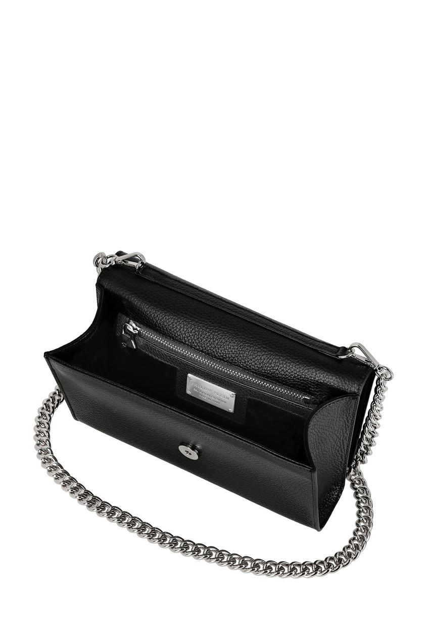 Фото 4 - Черная сумка с логотипом от Philipp Plein черного цвета