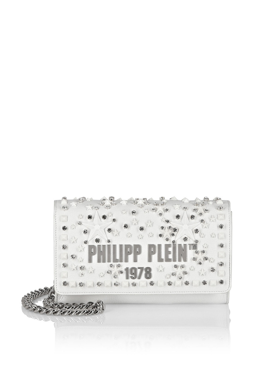 женская сумка philipp plein, белая
