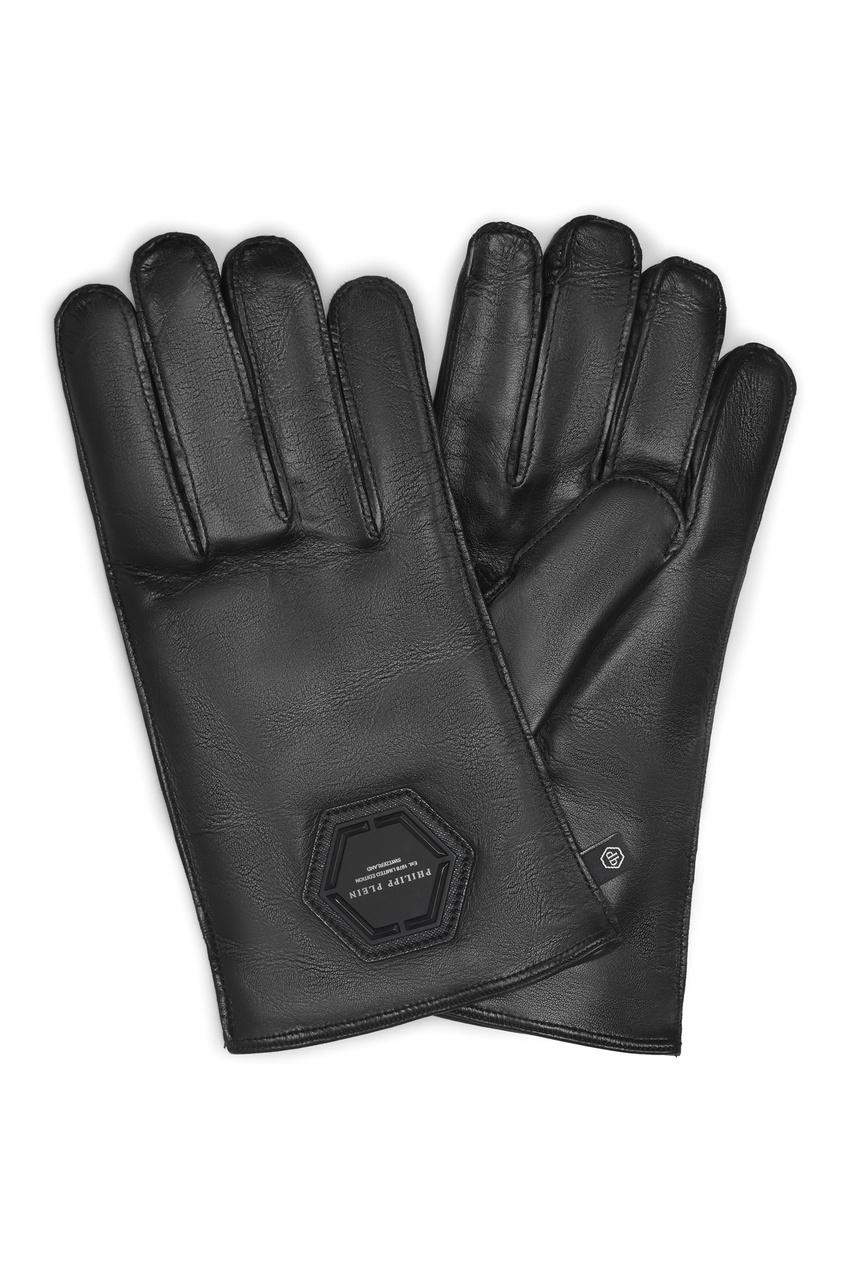 Купить со скидкой Черные перчатки с символом
