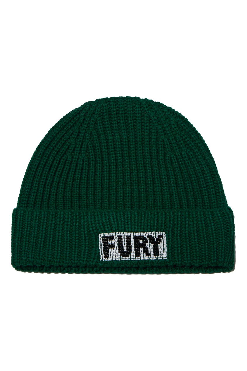 Темно-зеленая шапка бини от Essentiel Antwerp