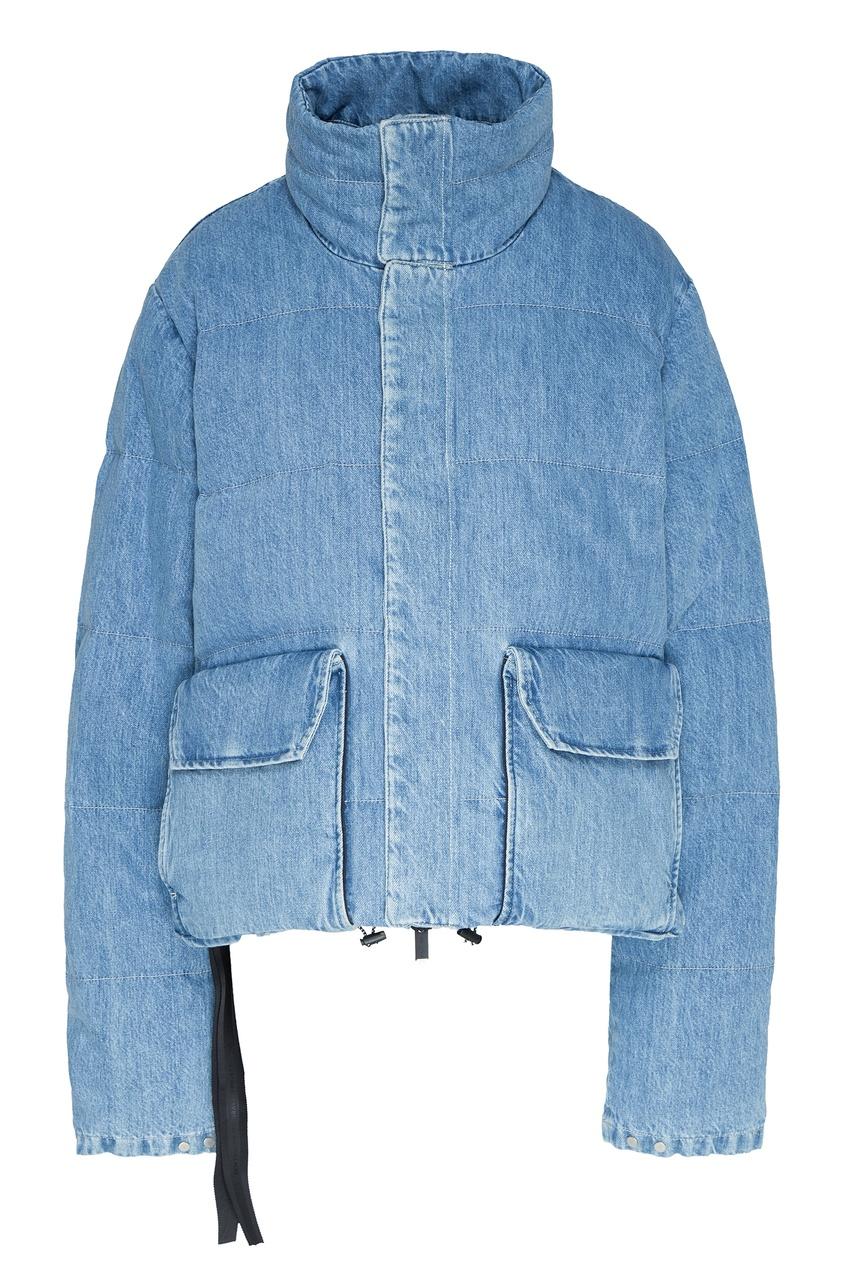 женский джинсовые пуховик unravel project, синий