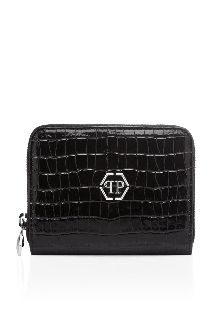 женский кошелёк philipp plein, черный