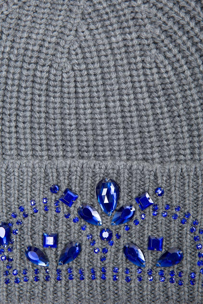 Шапка из шерсти мериноса с кристаллами