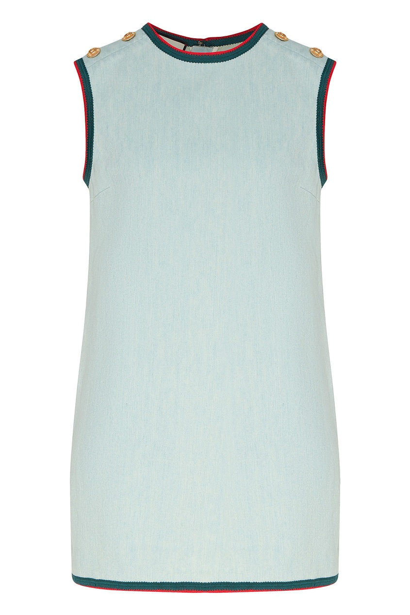 женское платье gucci, голубое