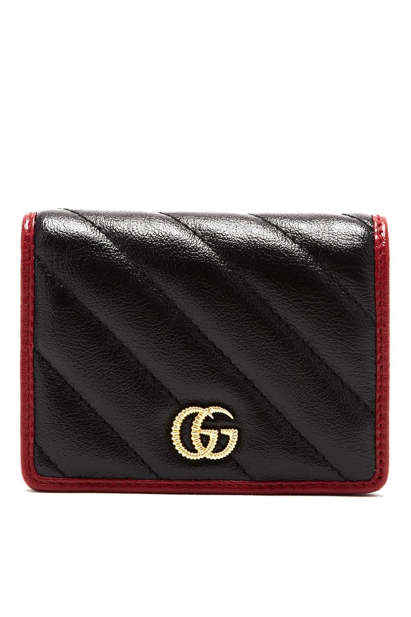 Визитница из кожи GG Marmont от Gucci