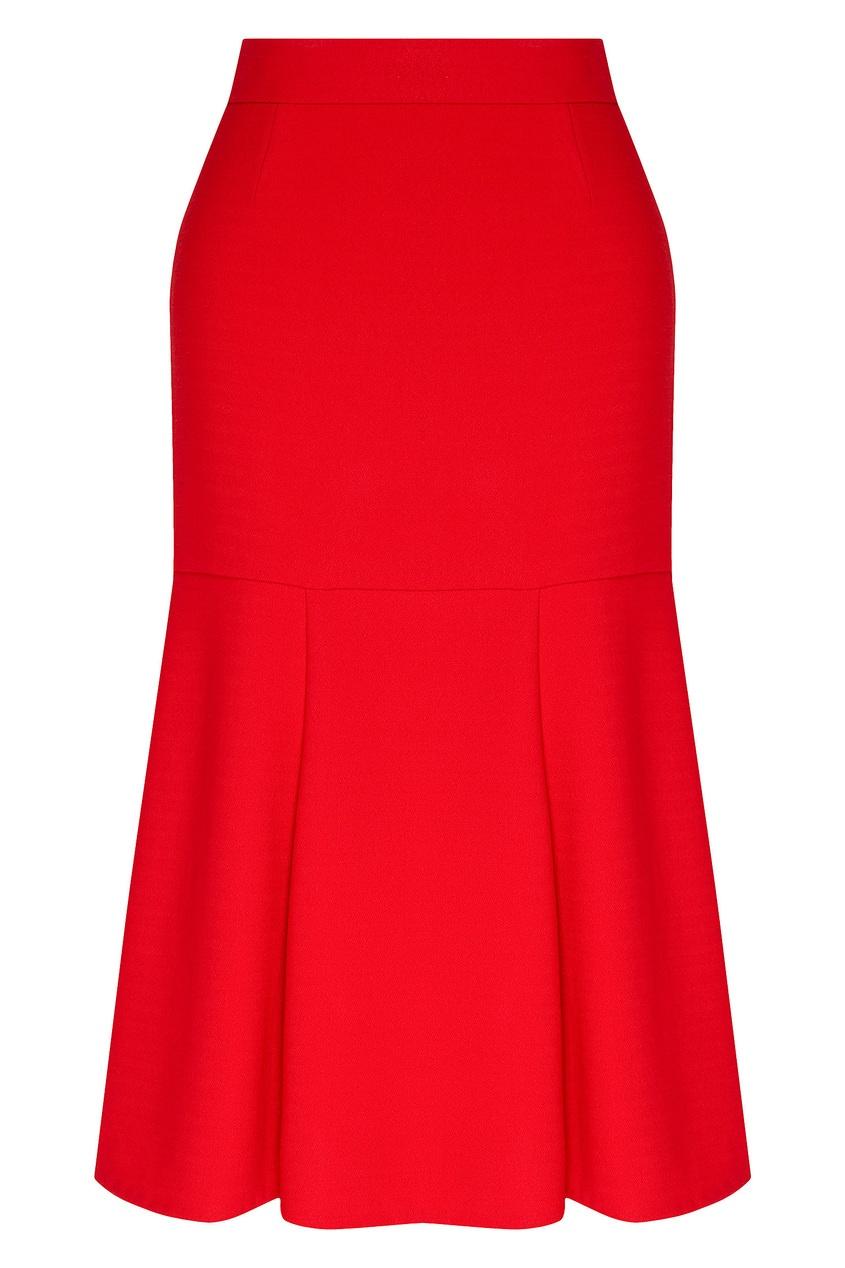 женская юбка миди chapurin, красная