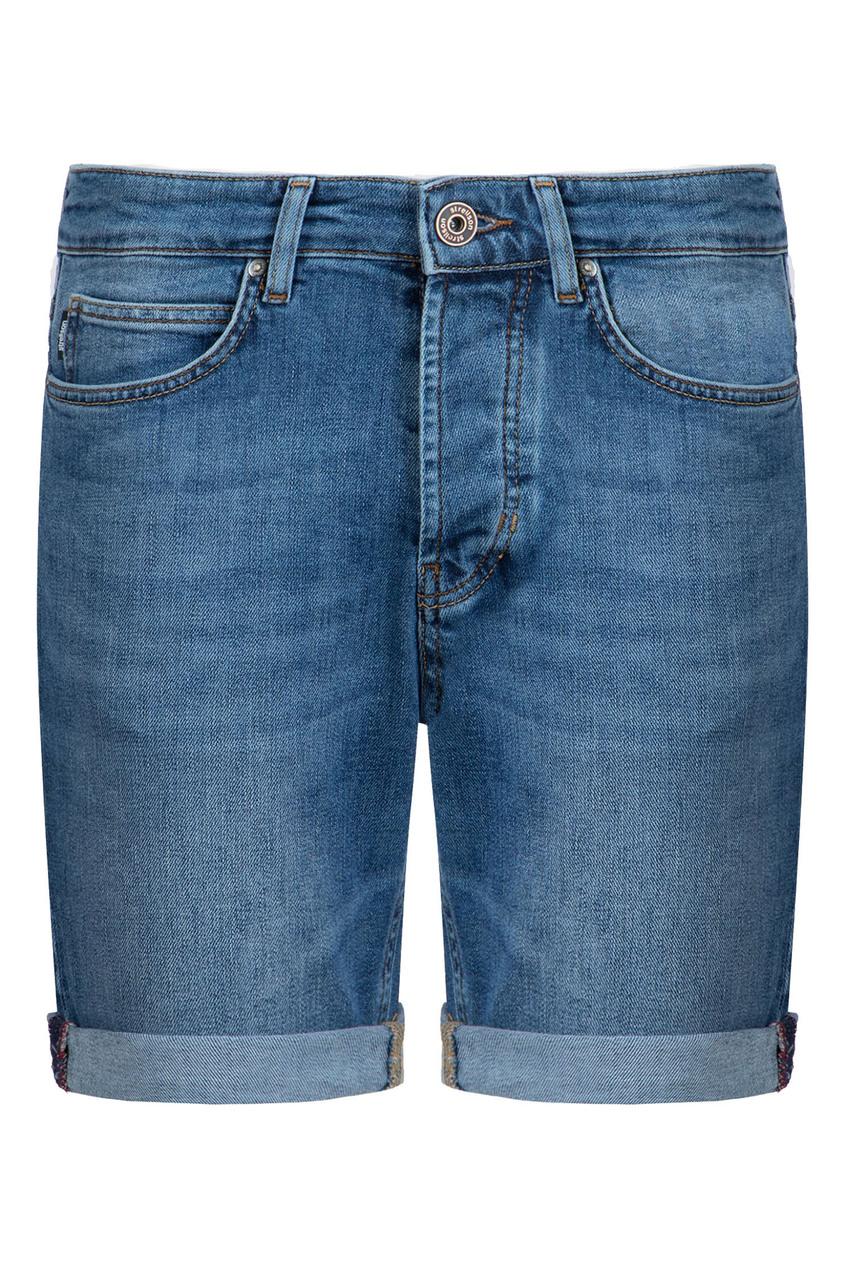 мужские джинсовые шорты strellson, голубые
