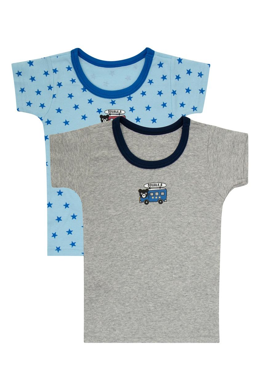 Фото - Набор футболок с автобусом от Miki House голубого цвета