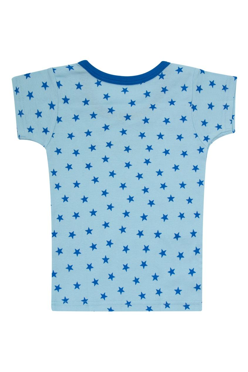 Фото 3 - Набор футболок с автобусом от Miki House голубого цвета