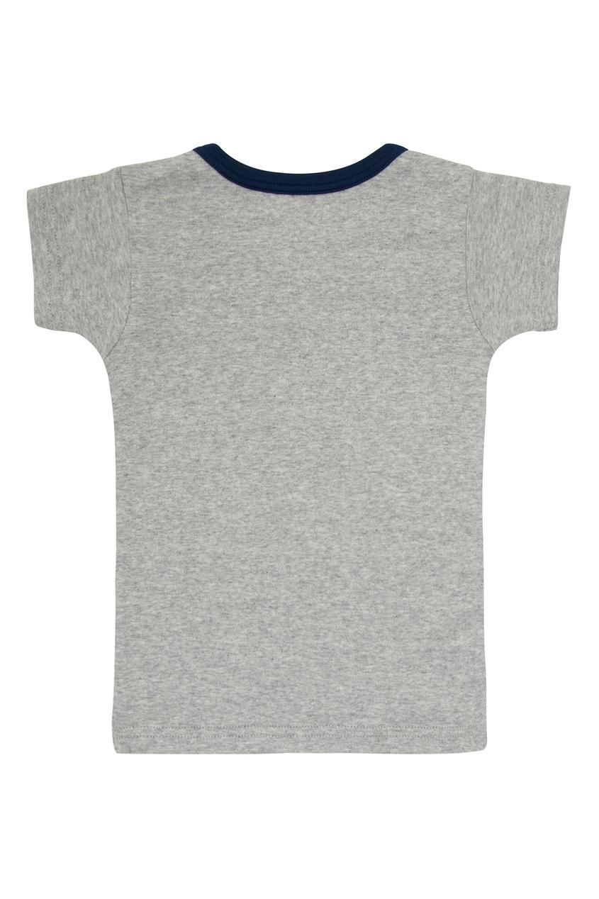 Фото 6 - Набор футболок с автобусом от Miki House голубого цвета
