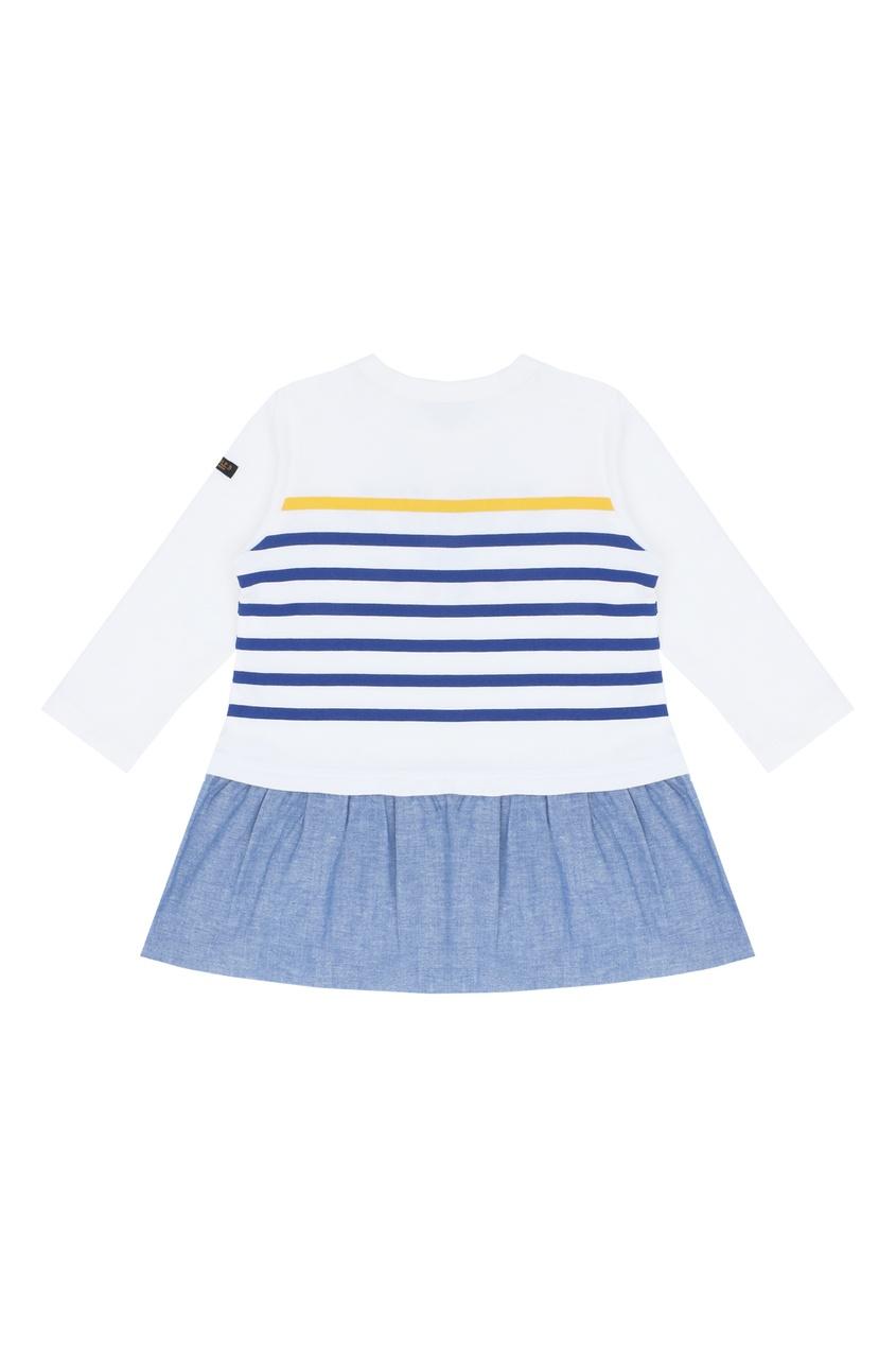 Фото 2 - Платье в морском стиле от Miki House белого цвета